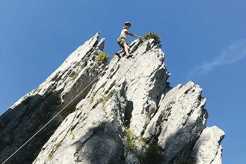 Journée d'escalade en famille dans le Jura