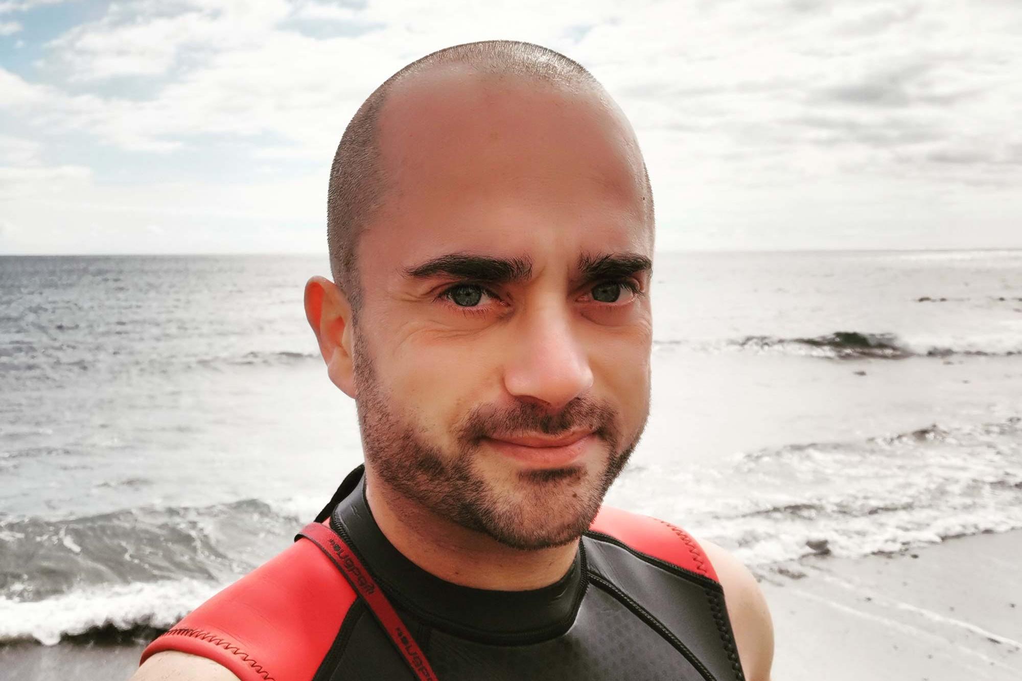 Leonardo Lauciello am Meer